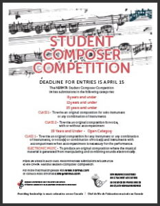 NBRMTA Student Composer Competition – New Brunswick